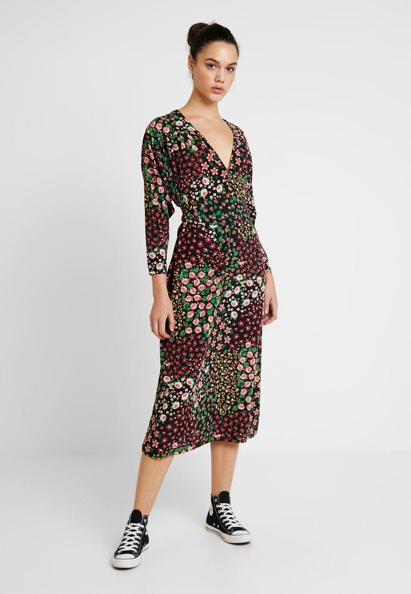 Topshop - TIE SMOCK - Vestido informal - multi-coloured