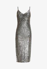 Topshop - SEQUIN DRESS - Vestido de cóctel - silver - 5
