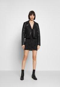 Topshop - GYPSY DEVORE DRESS - Denní šaty - black - 0