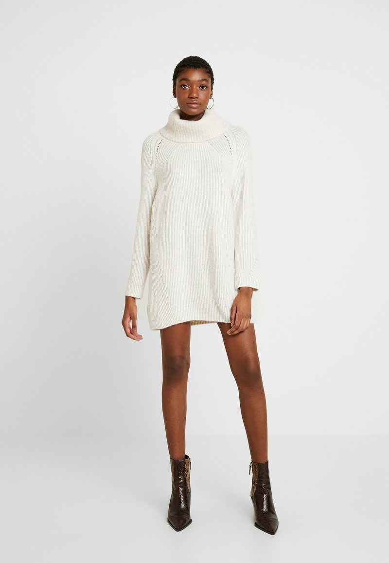 Topshop - DRESS - Abito in maglia - ivory and oat