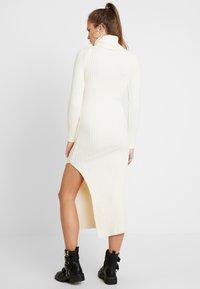 Topshop - ROLL NECK DRESS - Abito in maglia - off white - 2