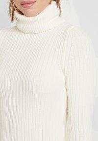 Topshop - ROLL NECK DRESS - Abito in maglia - off white - 5
