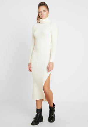 ROLL NECK DRESS - Vestido de punto - off white