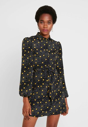 SPOT DRESS - Shirt dress - mustard