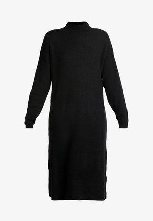 MIX DRESS - Gebreide jurk - black