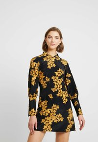 Topshop - ORIENTAL BLOOM - Robe d'été - black - 0
