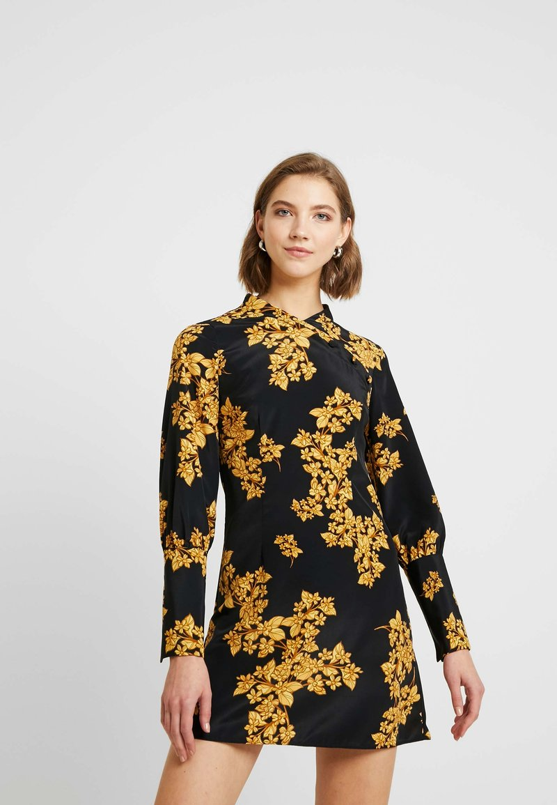 Topshop - ORIENTAL BLOOM - Robe d'été - black
