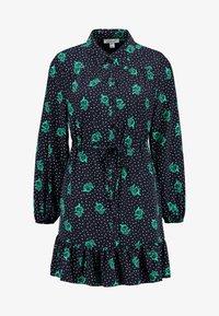 Topshop - TIERED MINI SHIRT DRESS - Shirt dress - mono - 5