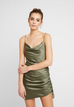RUCHED SLIP - Cocktailkleid/festliches Kleid - green