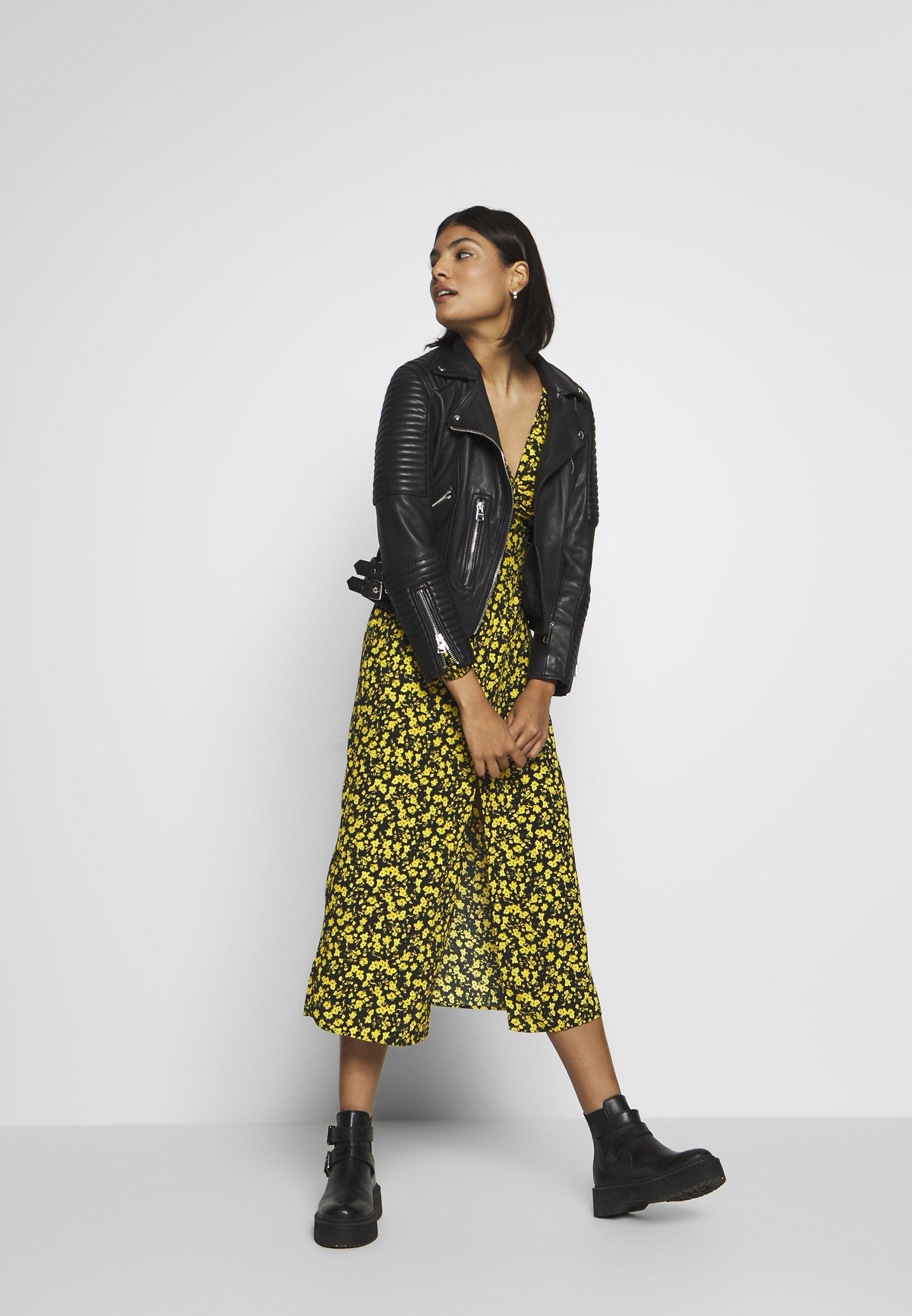 Topshop TWIST FRONT - Sukienka letnia - yellow