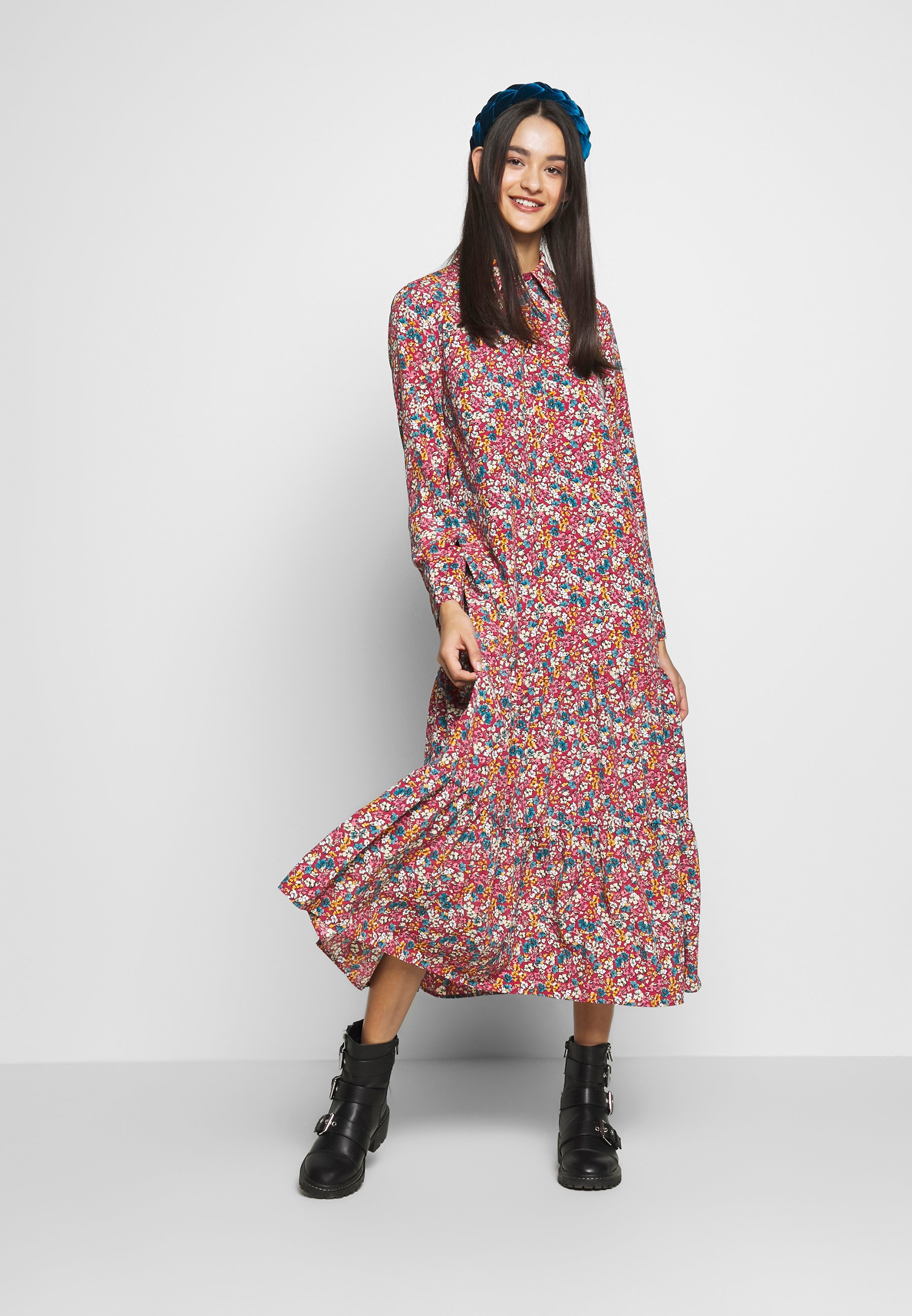 Topshop Smock Peplum Dress - Skjortekjole Multi