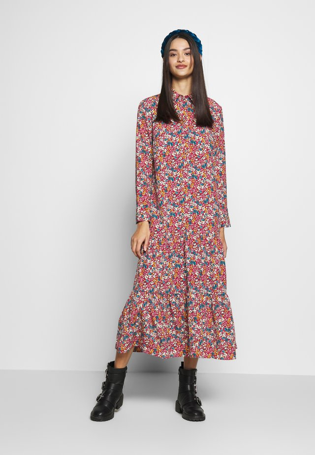 SMOCK PEPLUM DRESS - Shirt dress - multi