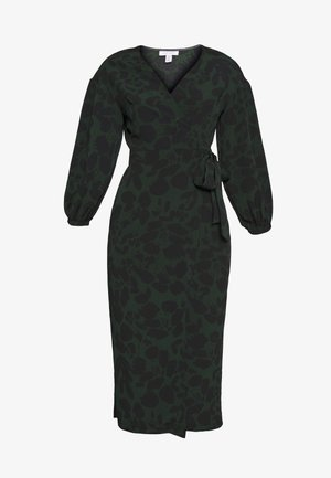 DRAMA SLEEVE WRAP - Denní šaty - black