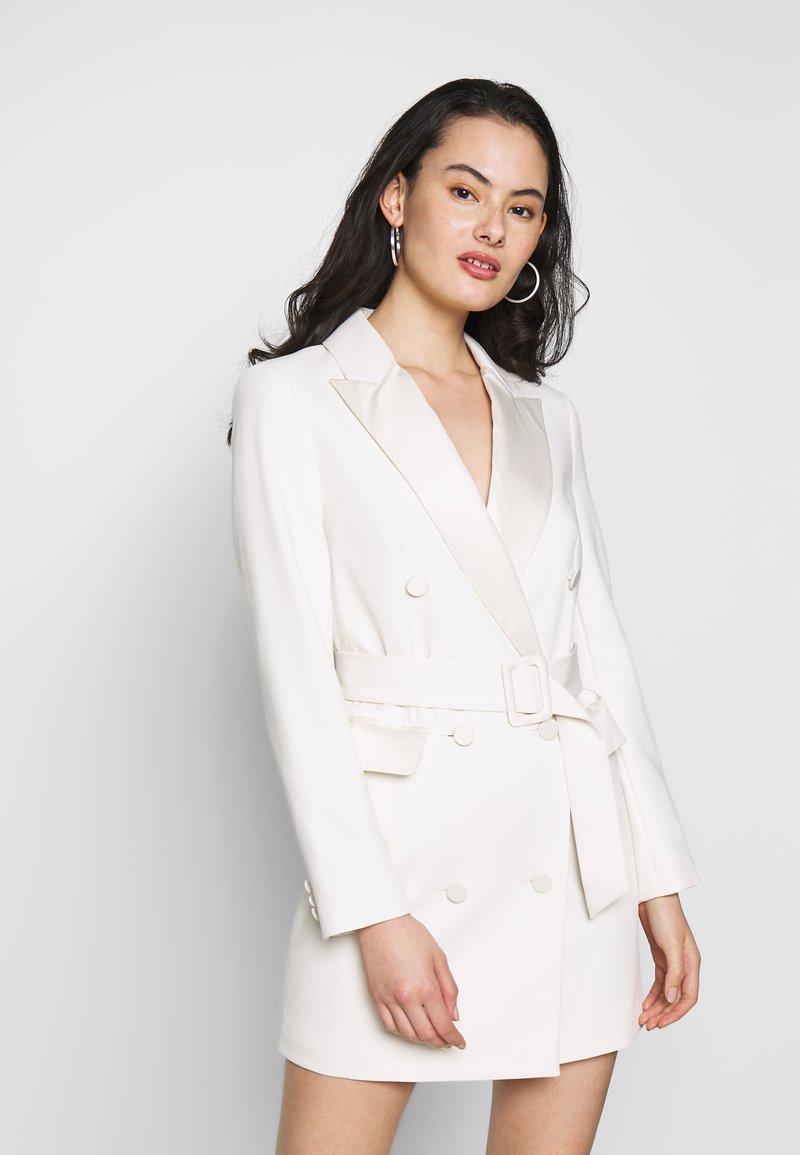 Topshop - TUX DRESS - Košilové šaty - ivory