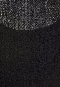 Topshop - TEXTURED PUFF SLEEVE MIDI - Vestido informal - black - 7