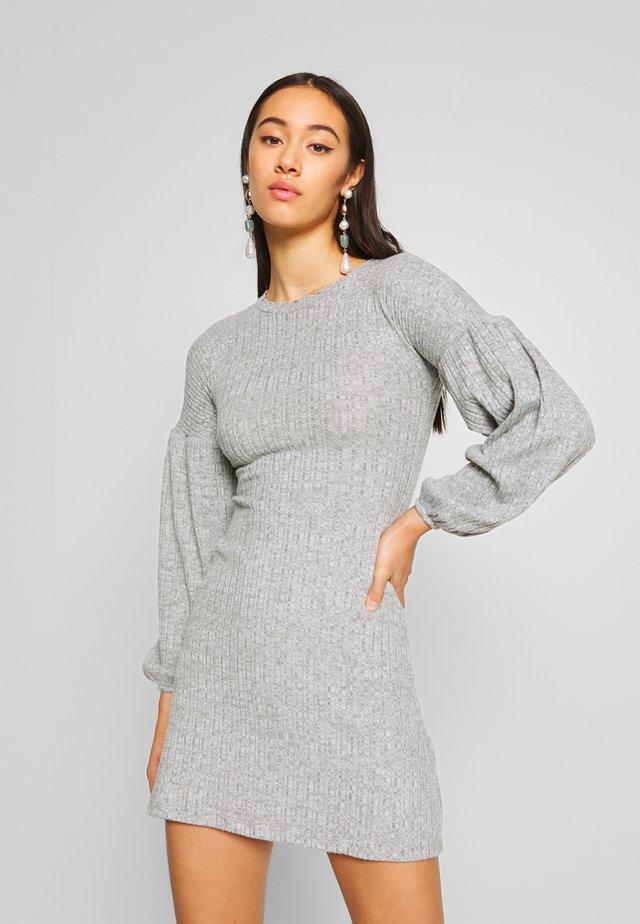 BALLOON - Abito in maglia - light grey melange