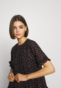 Topshop - DITSY LADDER TRIM MINI - Korte jurk - black - 3