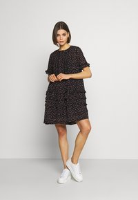 Topshop - DITSY LADDER TRIM MINI - Korte jurk - black - 1