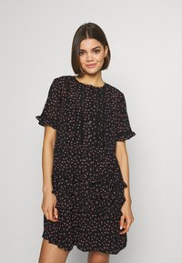 Topshop - DITSY LADDER TRIM MINI - Korte jurk - black - 0
