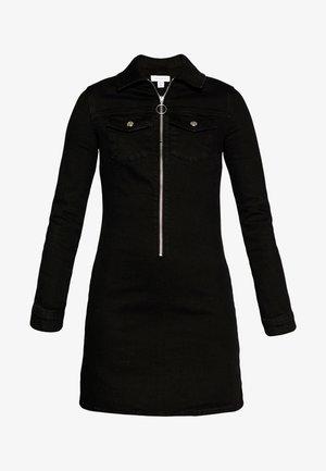 ZIP STRETCH - Vestito di jeans - black