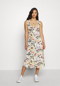 Topshop - MIDSUMER BUTTON THROUGH - Korte jurk - beige - 0