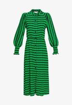 CHECK SHIRRED - Vapaa-ajan mekko - green