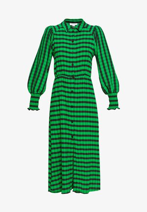 CHECK SHIRRED - Robe d'été - green