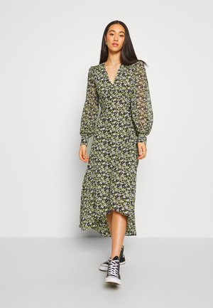 STEEPLE FRONT MIDI - Robe d'été - yellow