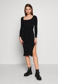 Topshop - BODYCON - Pouzdrové šaty - black - 0