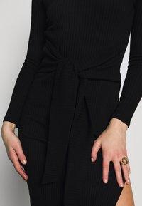 Topshop - BODYCON - Pouzdrové šaty - black - 5