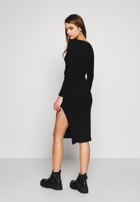 Topshop - BODYCON - Pouzdrové šaty - black - 2