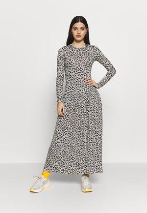TIERED HEM - Maxi šaty - black/white