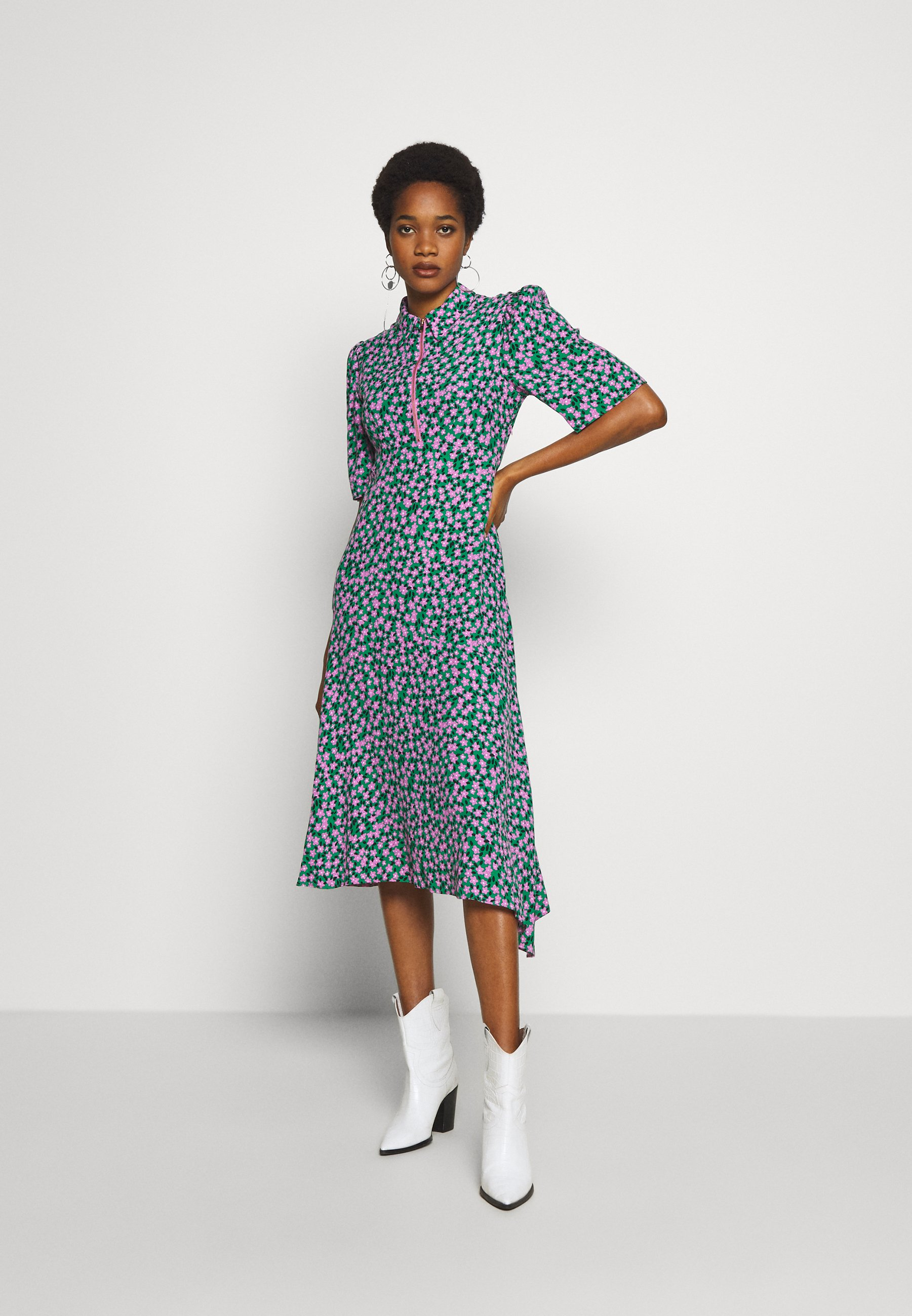 Topshop ZIP THROUGH - Sukienka koszulowa - green