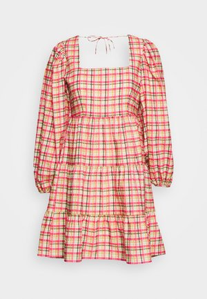 CHECK SMOCK MINI - Korte jurk - multi