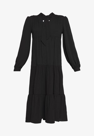 TIERED CHUCKON MIDI - Day dress - black