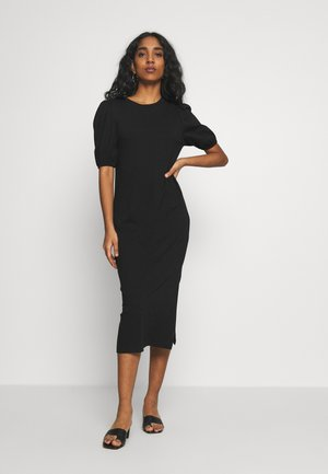 CUT OUT BACK MIDI - Robe fourreau - black