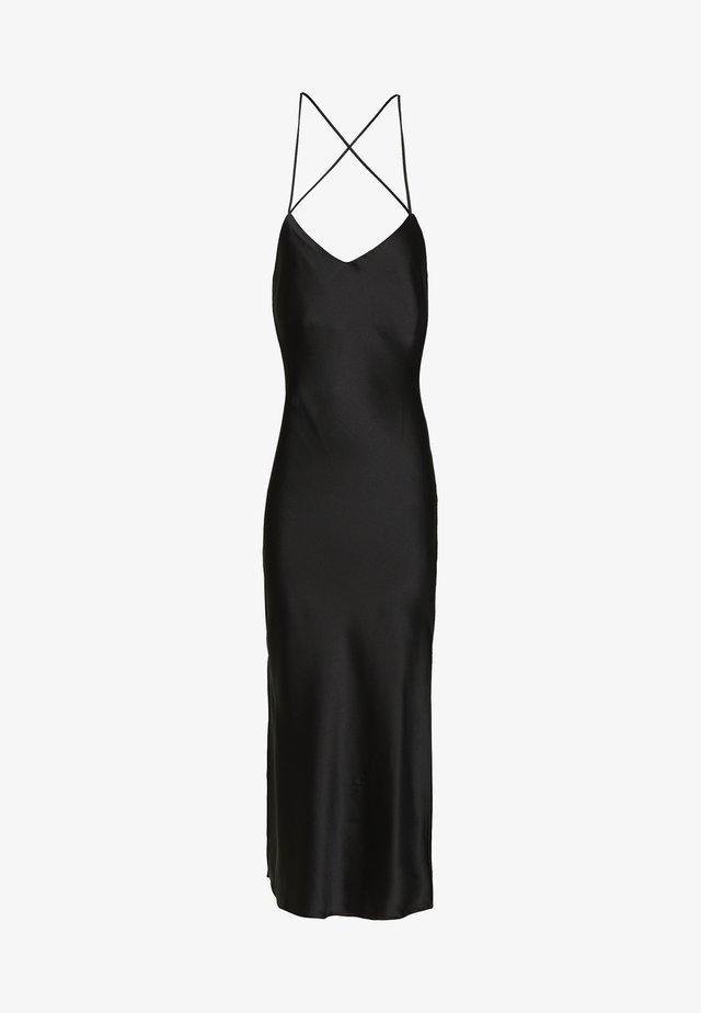 MIDI SLIP - Vestido informal - black
