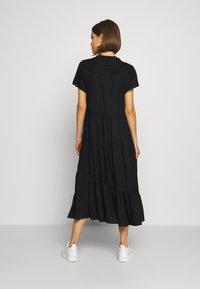 Topshop - GRANDAD COLLAR SHIRTDRESS - Sukienka letnia - black - 2