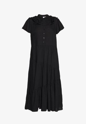 GRANDAD COLLAR SHIRTDRESS - Vestito estivo - black
