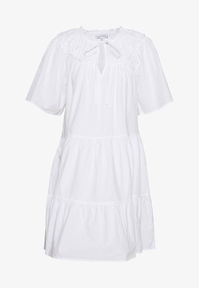 SMOCK MINI - Freizeitkleid - white