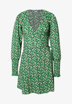 FLORAL MINI WRAP - Robe d'été - green