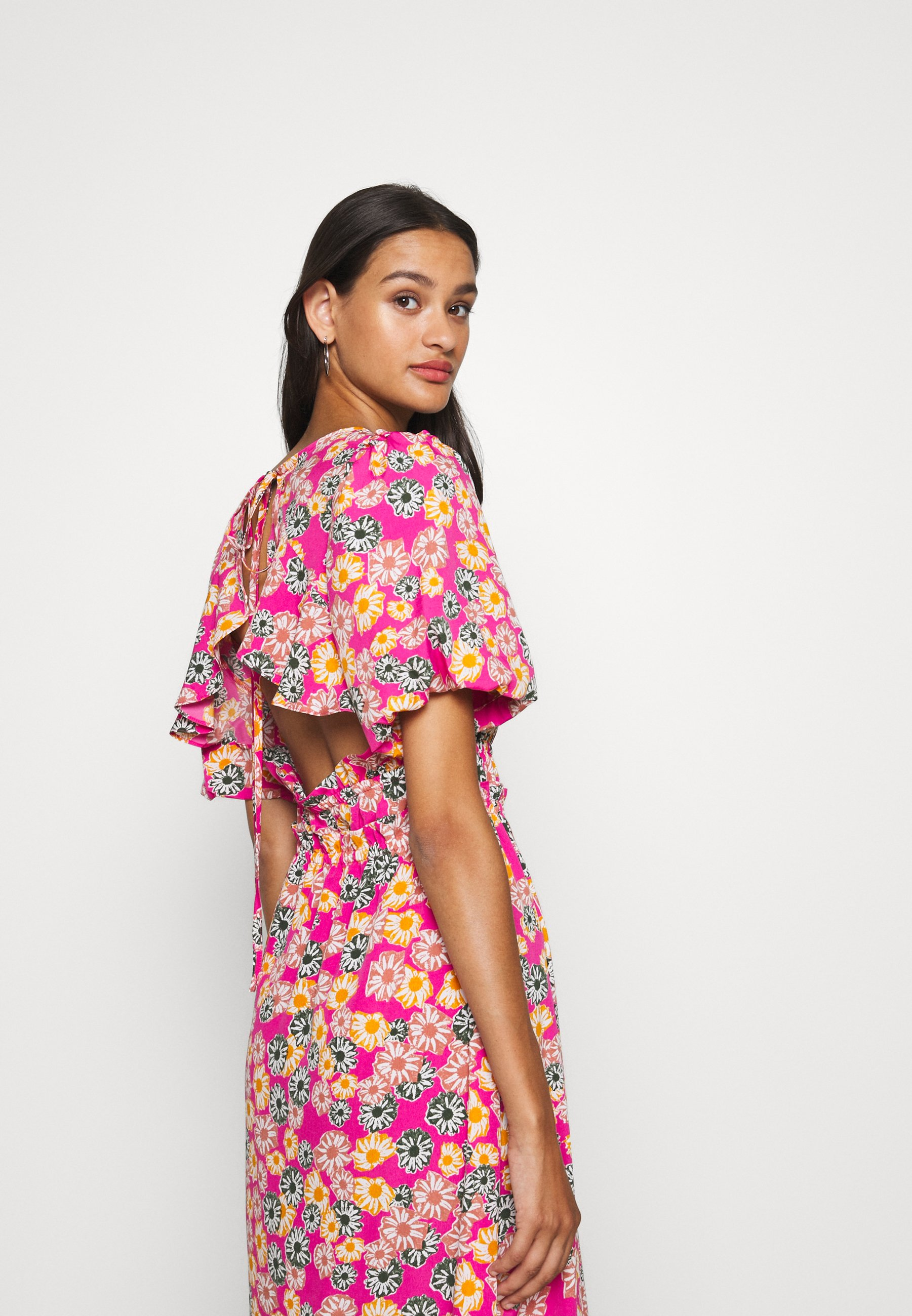 Topshop DAISY BUBBLE MID - Day dress - pink