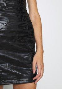 Topshop - ZEBRA JONI CORSET DRESS - Shift dress - black - 5