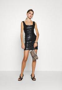 Topshop - ZEBRA JONI CORSET DRESS - Shift dress - black - 1