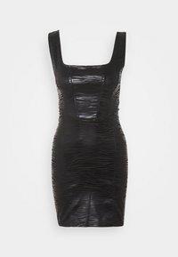 Topshop - ZEBRA JONI CORSET DRESS - Shift dress - black - 4