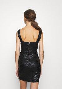 Topshop - ZEBRA JONI CORSET DRESS - Shift dress - black - 2