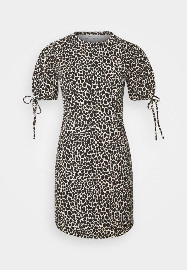 ANIMAL TEA DRESS - Sukienka letnia - white/black