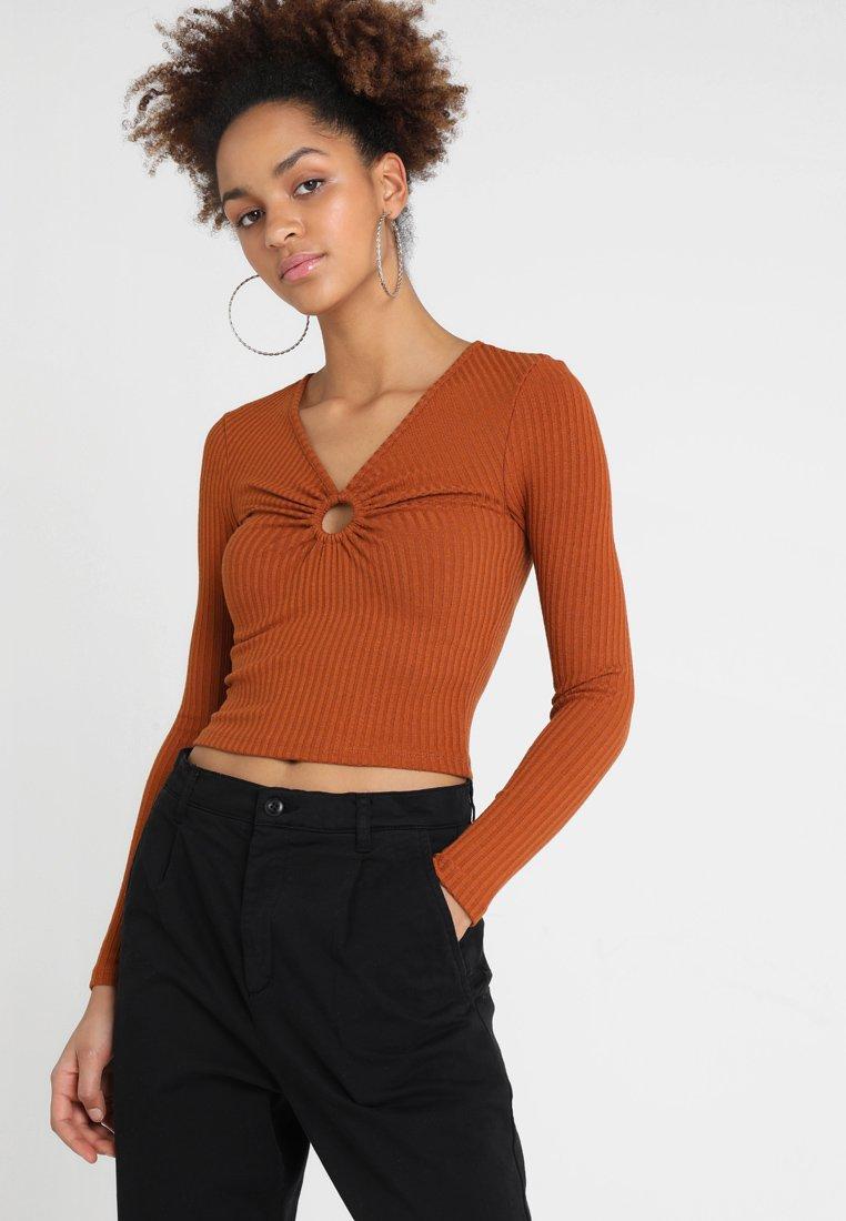 Topshop - HOOP - Long sleeved top - brown