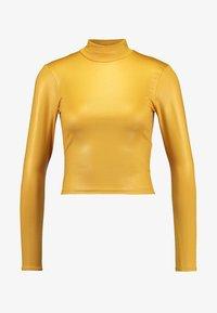 Topshop - SHINY FUNNEL - Langærmede T-shirts - mustard - 3