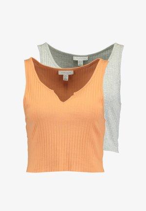NOA NOTCH 2 PACK - Top - orange/grey marl